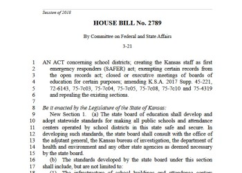 Republicans in Kansas Legislature are attempting to arm teachers while students March for Our Lives