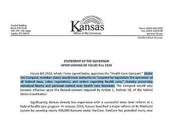 Kansas Republican Health Care Compact is a Radical Effort to Privatize Medicare in Kansas