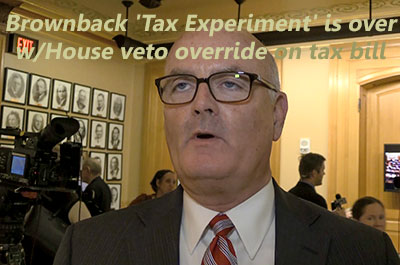 KS 'Tax Experiment' is over w/House veto override on tax bill