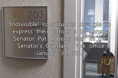 'Indivisilble' constituents struggle to express concerns to KS Sen. Pat Roberts 1-31-17